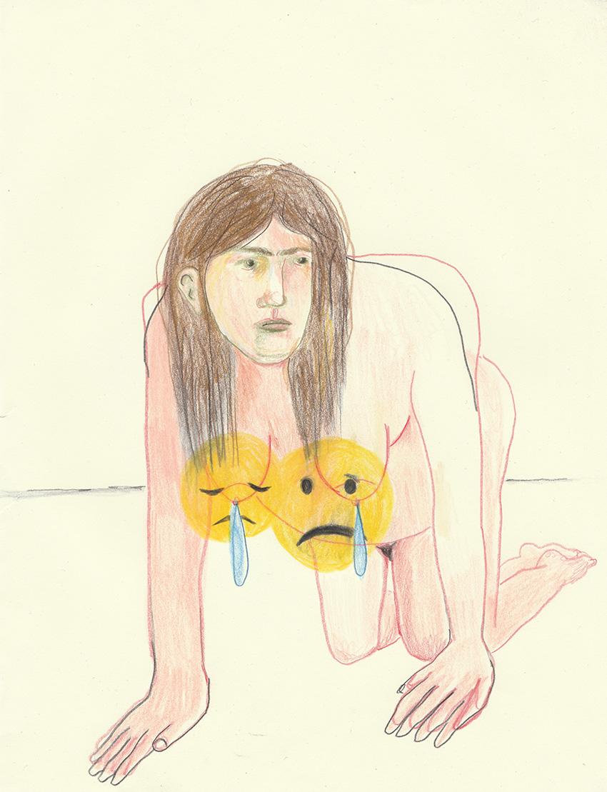 אמוג׳י עצוב/חולה