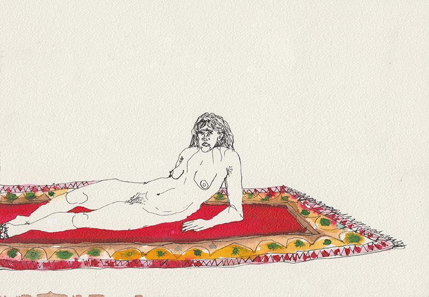 כתם על השטיח