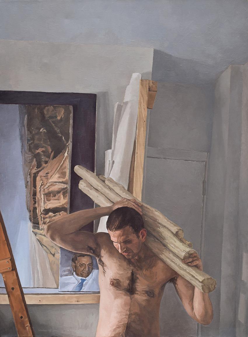 איש עירום ושחור כפחם (דיוקן עצמי)