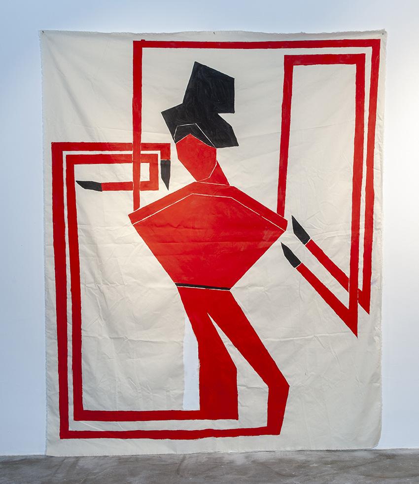 אישה אדומה #1