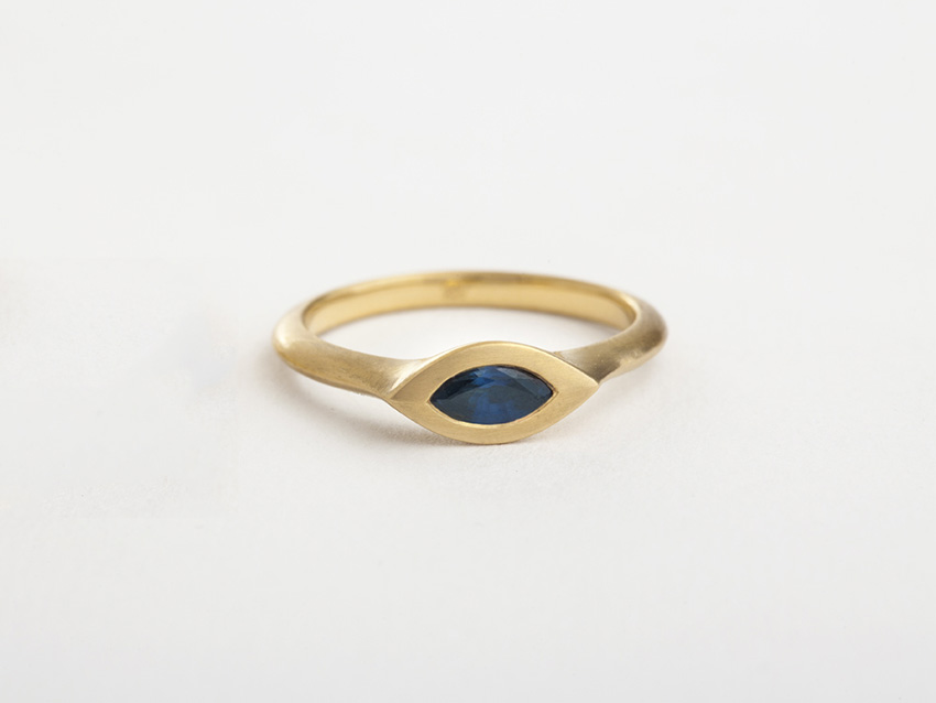 טבעת ספיר מרקיזה