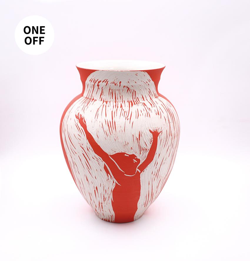 Red Boy Vase