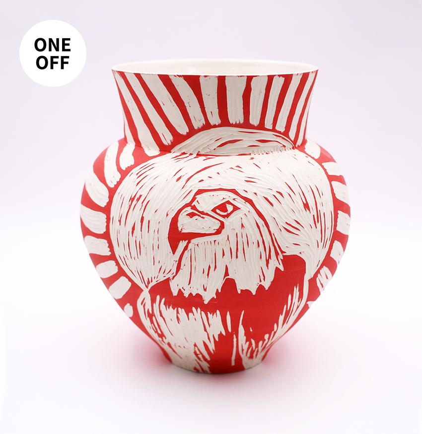 Red Eagle Vase