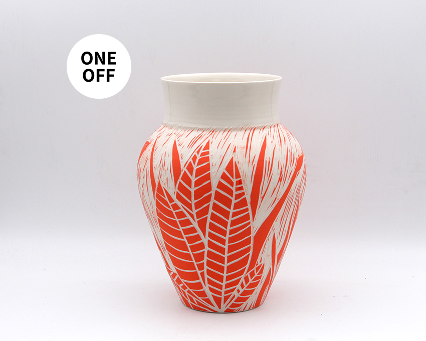 Orange Plant Vase
