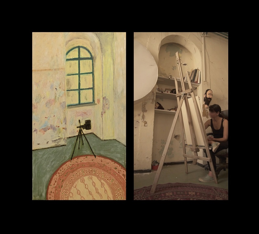 Diptych Video Paint