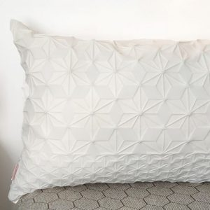 Creme Lumbar Bed Pillow