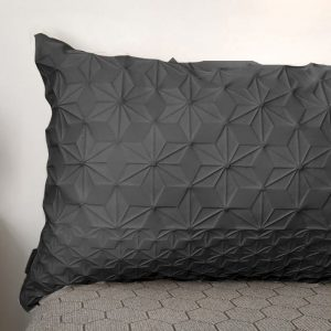 Black Lumbar Bed Pillow