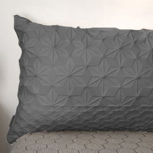 Grey Lumbar Bed Pillow