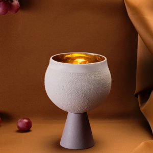 Porcelain Kiddush Cup – Lilach Grey