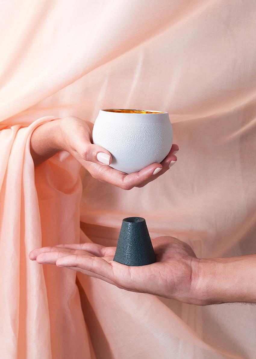 Porcelain Kiddush Cup – Dark Teal