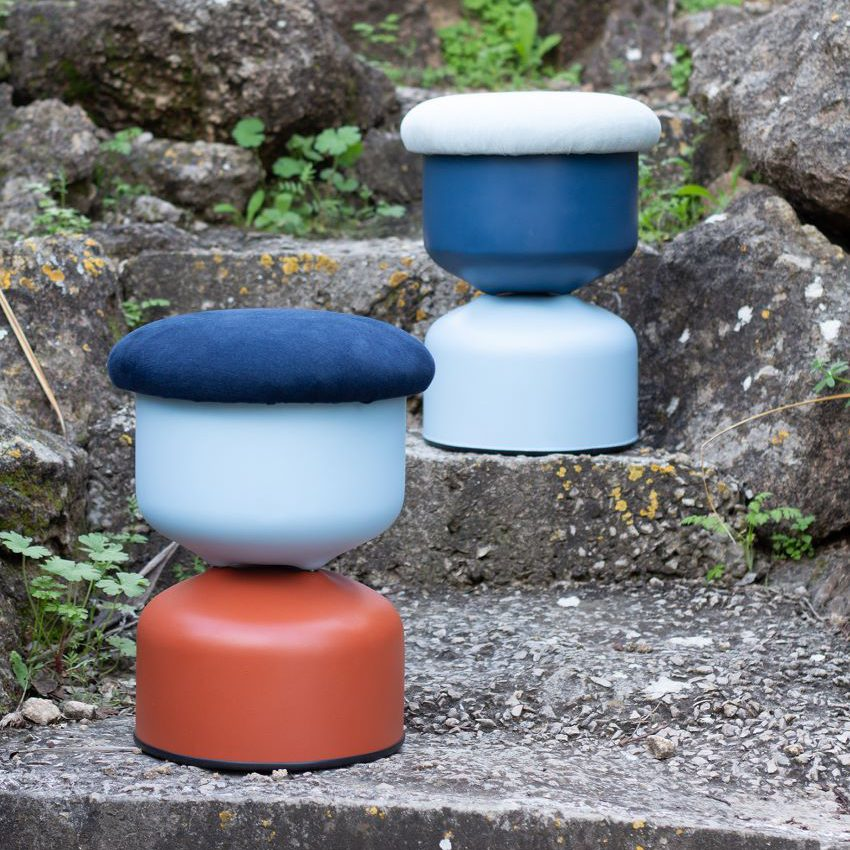 A Pair of Low Lego Stool
