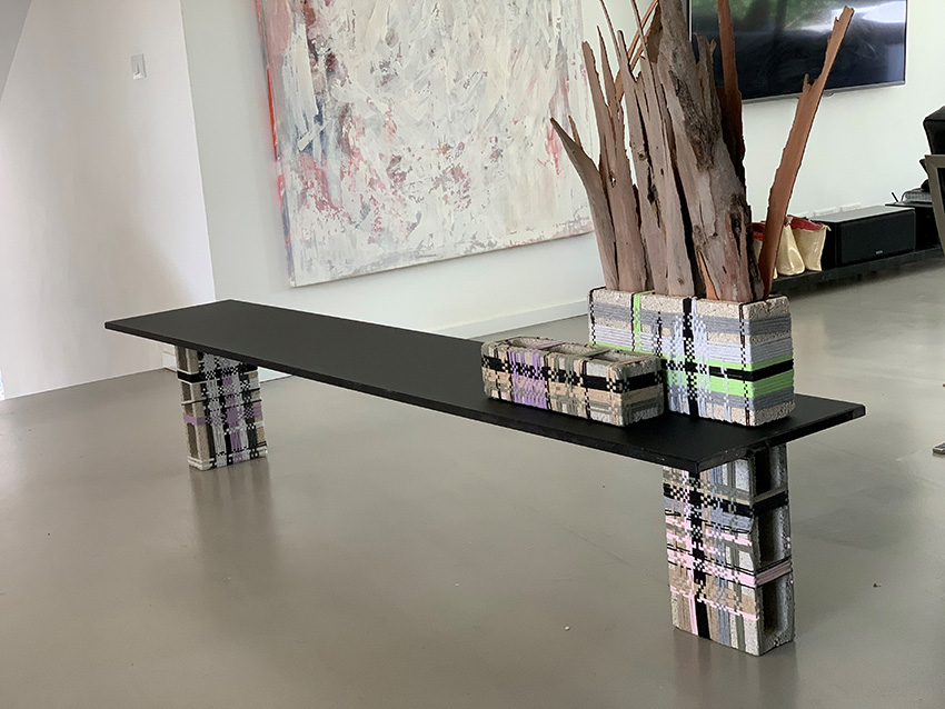 Table Composition of 4 Different Size Blocks. Item#: 4-5-6-8