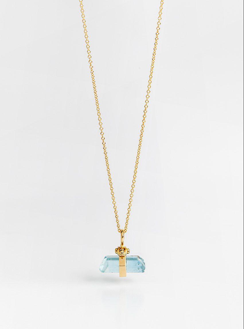 Vertical Raw Aquamarine