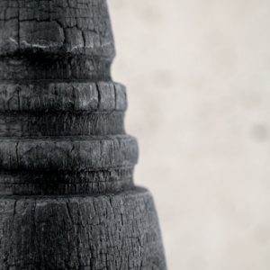 Burnt Vase M (with rings)