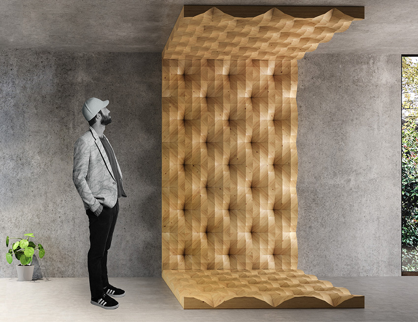 3D Oak Wood Tiles