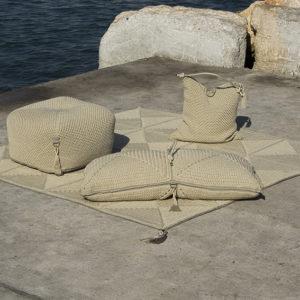 Cube Pouf Sand