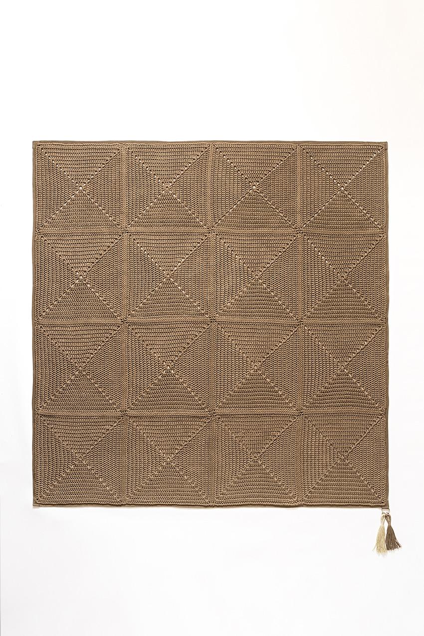 שטיח ריבועי סבתא – קקאו