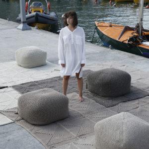 Cube Pouf – Granite